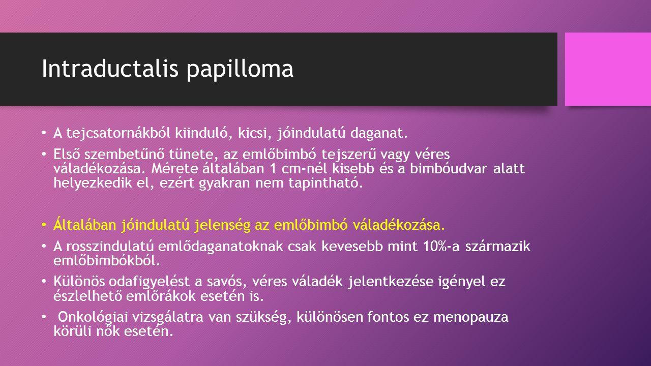 Az intraductalis papilloma a rák