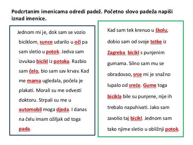 hrvatski jezik 5 razred padezi vjezba
