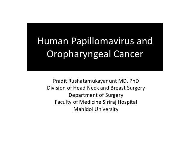hpv és oropharyngealis rák ppt
