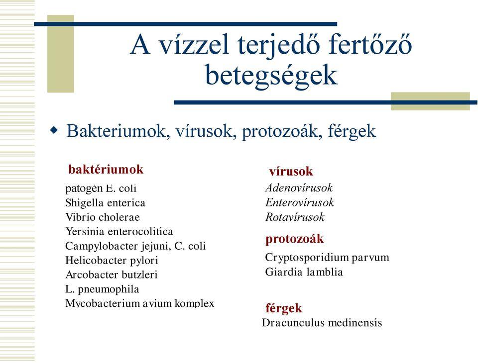 cryptosporidium giardia ivóvízkezelés)