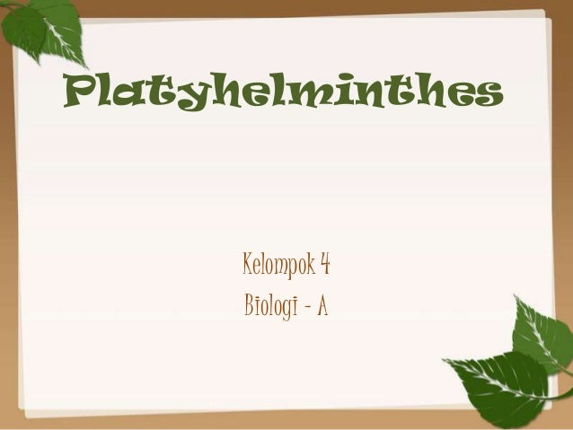 Cacing platyhelminthes ppt